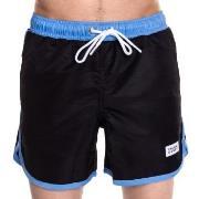 Frank Dandy Badbyxor Long Bermuda Swimshorts Svart/Blå polyester Mediu...