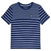Lyle & Scott Stripe Brenton T-shirt Blå och Marinblå 7-8 years