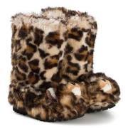 Dolce & Gabbana Leopard Fuskpäls Stövlar Brun 29 (UK 10.5)