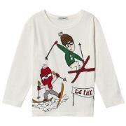 Dolce & Gabbana Skiing Långärmad T-shirt Vit 3 years